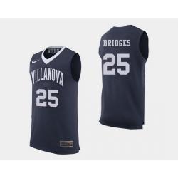 Men Villanova Wildcats Mikal Bridges Navy College Basketball Jersey