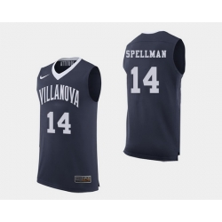 Men Villanova Wildcats Omari Spellman Navy College Basketball Jersey