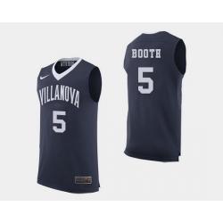 Men Villanova Wildcats Phil Booth Navy College Basketball Jersey