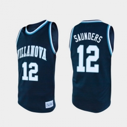 Men Villanova Wildcats Tim Saunders Alumni Navy College Baketball Jersey