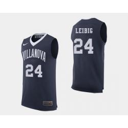 Men Villanova Wildcats Tom Leibig Navy College Basketball Jersey
