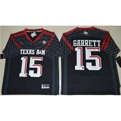 Aggies #15 Myles Garrett Black New SEC Patch Stitched NCAA Jersey