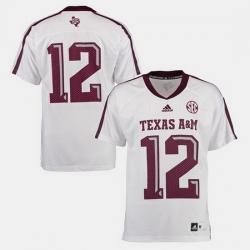 Men Texas A M Aggies College Football White Jersey
