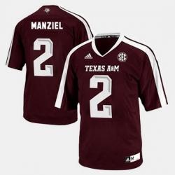 Men Texas A M Aggies Johnny Manziel College Football Red Jersey
