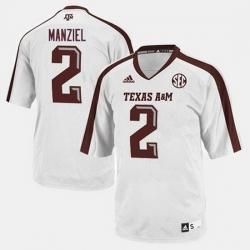 Men Texas A M Aggies Johnny Manziel College Football White Jersey