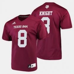 Men Texas A M Aggies Trevor Knight College Football Maroon Jersey