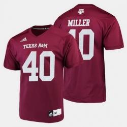 Men Texas A M Aggies Von Miller College Football Maroon Jersey