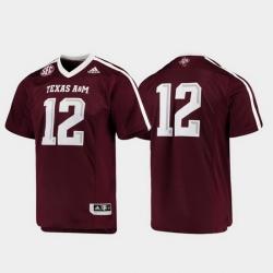Men Texas A&M Aggies 12 Maroon Premier Football Jersey