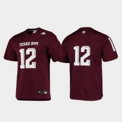Men Texas A&M Aggies 12 Maroon Replica Football Jersey