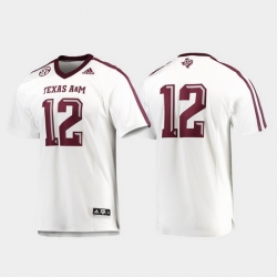 Men Texas A&M Aggies 12 White Premier Football Jersey