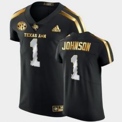Men Texas A&M Aggies Buddy Johnson Golden Edition Black Authentic Jersey