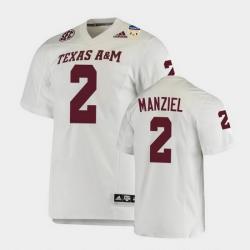 Men Texas A&M Aggies Johnny Manziel 2021 Orange Bowl College Football White Jersey