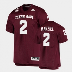 Men Texas A&M Aggies Johnny Manziel Alumni Football Game Maroon Jersey