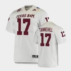 Men Texas A&M Aggies Ryan Tannehill 2021 Orange Bowl College Football White Jersey