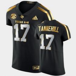 Men Texas A&M Aggies Ryan Tannehill Golden Edition Black Authentic Jersey