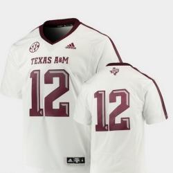 Men Texas A&M Aggies White College Football Premier Jersey