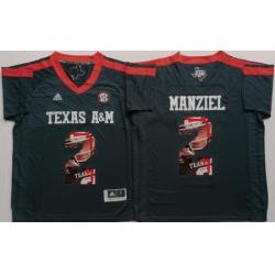 Texas A 26M Aggies 2 Johnny Manziel Black Portrait Number College Jersey
