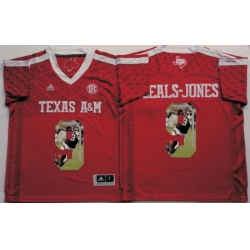 Texas A 26M Aggies 9 Ricky Seals Jones Red Portrait Number College Jersey