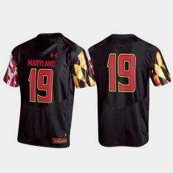 Men Maryland Terrapins 19 Black Replica Jersey