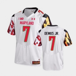 Men Maryland Terrapins Dontay Demus Jr. College Football White Game Jersey