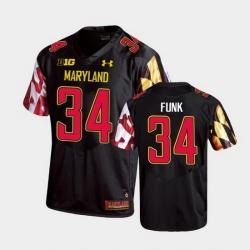 Men Maryland Terrapins Jake Funk Replica Black College Football Jersey