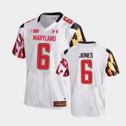 Men Maryland Terrapins Jeshaun Jones College Football White Game Jersey
