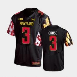 Men Maryland Terrapins Nick Cross Replica Black College Football Jersey
