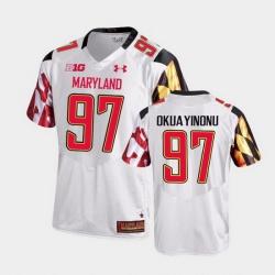Men Maryland Terrapins Sam Okuayinonu College Football White Game Jersey