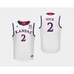 Men Kansas Jayhawks Lagerald Vick White College Basketball Jersey