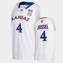 Men Kansas Jayhawks Latrell Jossel College Basketball White New Season 2020 21 Jersey