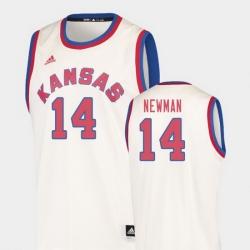 Men Kansas Jayhawks Malik Newman Cream Hardwood Classics College Basketball Jersey