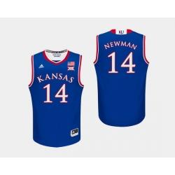 Men Kansas Jayhawks Malik Newman Royal College Basketball Jersey