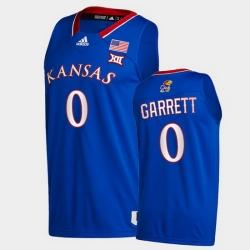 Men Kansas Jayhawks Marcus Garrett College Basketball Royal New Season 2020 21 Jersey