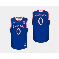 Men Kansas Jayhawks Marcus Garrett Royal College Basketball Jersey