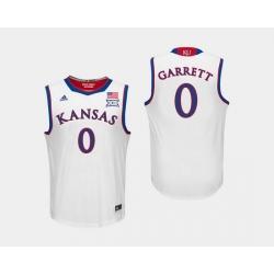 Men Kansas Jayhawks Marcus Garrett White College Basketball Jersey