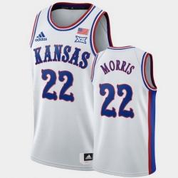Men Kansas Jayhawks Marcus Morris White 1990S Throwback Clippers Jersey