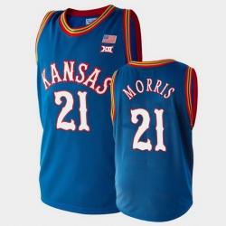 Men Kansas Jayhawks Markieff Morris College Basketball Royal Lakers Jersey