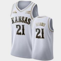 Men Kansas Jayhawks Markieff Morris Golden Limited White Lakers Jersey