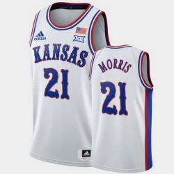 Men Kansas Jayhawks Markieff Morris White 1990S Throwback Lakers Jersey