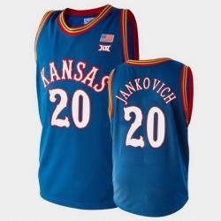 Men Kansas Jayhawks Michael Jankovich College Basketball Royal Jersey