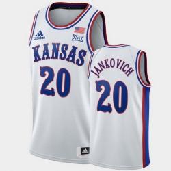 Men Kansas Jayhawks Michael Jankovich White 1990S Throwback Jersey