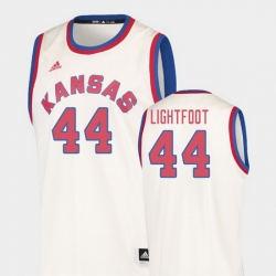 Men Kansas Jayhawks Mitch Lightfoot Cream Hardwood Classics College Basketball Jersey