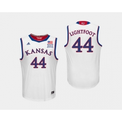 Men Kansas Jayhawks Mitch Lightfoot White College Basketball Jersey