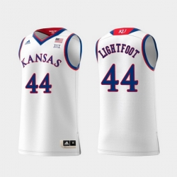 Men Kansas Jayhawks Mitch Lightfoot White Replica College Basketball Jersey