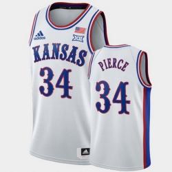 Men Kansas Jayhawks Paul Pierce White 1990S Throwback Retired Player Jersey