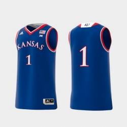Men Kansas Jayhawks Royal Basketball Swingman Adidas Replica Jersey