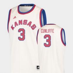 Men Kansas Jayhawks Sam Cunliffe Cream Hardwood Classics College Basketball Jersey