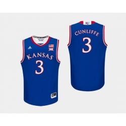 Men Kansas Jayhawks Sam Cunliffe Royal College Basketball Jersey