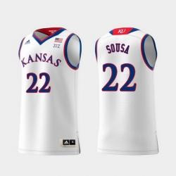 Men Kansas Jayhawks Silvio De Sousa White Replica College Basketball Jersey