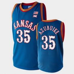 Men Kansas Jayhawks Udoka Azubuike College Basketball Royal Jersey